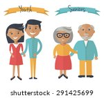 woman and man couple... | Shutterstock .eps vector #291425699