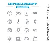 entertainment linear icons set. ... | Shutterstock .eps vector #291431138