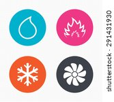 circle buttons. hvac icons.... | Shutterstock .eps vector #291431930
