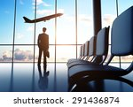 businessman in airport and... | Shutterstock . vector #291436874