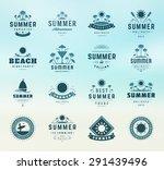 summer holidays labels design... | Shutterstock .eps vector #291439496