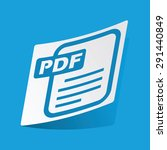 sticker with pdf file icon ...