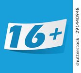 sticker with 16 plus icon ...