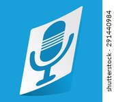 sticker with microphone icon ...