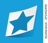 sticker with star icon ...