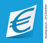 sticker with euro symbol icon ...