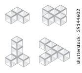 vector 3d cubes | Shutterstock .eps vector #29144602