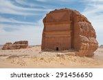 nabatean tomb in madain saleh... | Shutterstock . vector #291456650