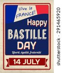 happy bastille day poster in... | Shutterstock .eps vector #291465920