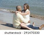 a romantic interracial couple... | Shutterstock . vector #291470330
