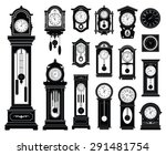 Set Of Clocks. Vector...