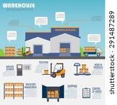 warehouse  cargo  logistic... | Shutterstock .eps vector #291487289