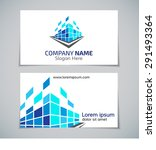 real estate logo with business... | Shutterstock .eps vector #291493364