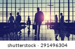 back lit business people... | Shutterstock . vector #291496304