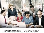 business people office working... | Shutterstock . vector #291497564