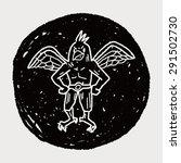 griffin doodle | Shutterstock .eps vector #291502730
