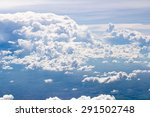 blue sky and cloud  background... | Shutterstock . vector #291502748