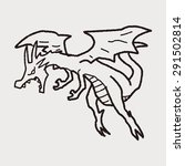 dragon doodle   Shutterstock .eps vector #291502814