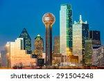dallas skyline at sunset   Shutterstock . vector #291504248