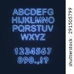 glowing font   neon   light ... | Shutterstock .eps vector #291505799