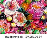 print  seamless pattern with... | Shutterstock .eps vector #291510839