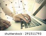 businessman hand working with... | Shutterstock . vector #291511793