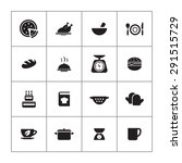cooking icons universal set for ... | Shutterstock .eps vector #291515729