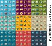 flat concept  set modern design ... | Shutterstock .eps vector #291516920