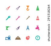 construction icons universal... | Shutterstock .eps vector #291518264