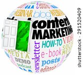 Content Marketing Words On A...