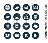cooking icons universal set for ... | Shutterstock .eps vector #291521330