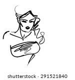 stylish  original hand drawn... | Shutterstock .eps vector #291521840
