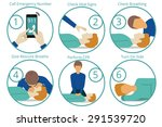 emergency first aid cpr... | Shutterstock .eps vector #291539720