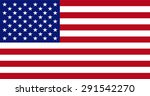 vector image of american flag | Shutterstock .eps vector #291542270