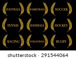 sports laurels 2 | Shutterstock .eps vector #291544064