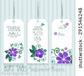 gift tags set for design.... | Shutterstock .eps vector #291546248