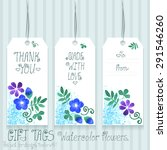 gift tags set for design.... | Shutterstock .eps vector #291546260