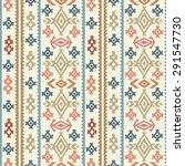 aztec tribal art colorful...   Shutterstock .eps vector #291547730