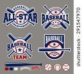 set of baseball sport badge... | Shutterstock .eps vector #291547970