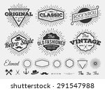 set of vintage star burst... | Shutterstock .eps vector #291547988