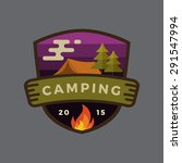 modern vintage camping outdoor... | Shutterstock .eps vector #291547994