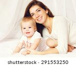 portrait of happy mother and... | Shutterstock . vector #291553250