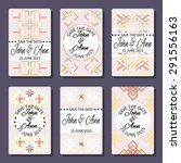 set of 6 colorful vector card...   Shutterstock .eps vector #291556163