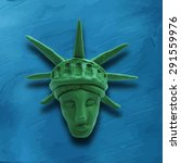 Head Of Statue Of Liberty On...