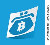 sticker with bitcoin purse icon ...