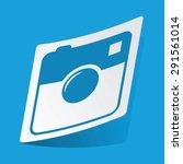 sticker with square camera icon ...