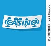 sticker with casino logo ...