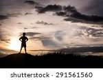 kid silhouette moments of the... | Shutterstock . vector #291561560