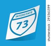 sticker with interstate 73 icon ...