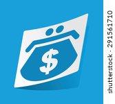 sticker with dollar purse icon  ...